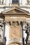 圣徒彼得和保罗教会,门面,克拉科夫,波兰细节  免版税库存照片