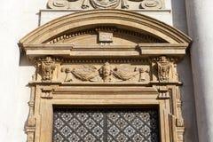 圣徒彼得和保罗教会,门面,克拉科夫,波兰细节  库存图片
