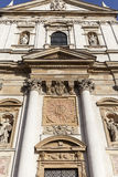 圣徒彼得和保罗教会,门面,克拉科夫,波兰细节  免版税图库摄影