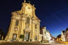 圣徒彼得和保罗教会Veemarkt的在梅赫伦 库存照片