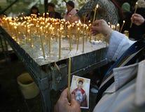 圣徒德米特里遗物的香客 库存图片