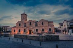 圣徒拉撒路贴水Lazaros,拉纳卡,塞浦路斯东正教  免版税图库摄影