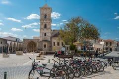 圣徒拉撒路,拉纳卡,塞浦路斯教会  库存照片