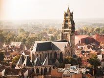 圣徒救主的大教堂在布鲁日 免版税库存图片