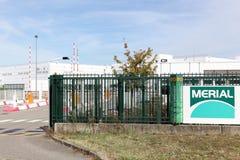 圣徒教士的Merial工业站点在法国 库存照片