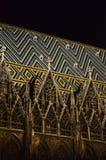 圣徒斯蒂芬大教堂夜视图在维也纳的中心 免版税库存照片