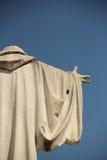 圣徒本尼迪克特雕象在圣徒本尼迪克特广场在诺尔恰,意大利 库存照片