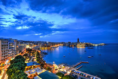 圣徒朱利安海湾,马耳他 库存照片