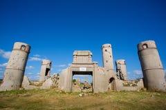 圣徒波尔布特乳酪面粉糊庄园的Ruines  免版税库存照片