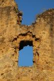 圣徒热尔曼deConfelons,被破坏的中世纪墙壁 库存照片