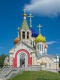 圣徒王子伊戈尔Chernigovsky的大教堂在新的Peredelkino莫斯科地区俄罗斯 免版税库存照片