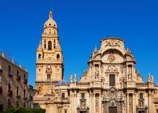 圣徒玛丽亚大教堂教会在穆尔西亚 西班牙 免版税库存图片
