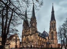 圣徒瓦茨拉夫大教堂Olomouc -捷克 库存图片