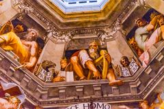 圣徒瓦萨里壁画耶稣圆顶中央寺院大教堂佛罗伦萨意大利 库存图片