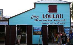 圣徒的吉勒斯, La雷乌尼翁冰岛,法国Loulou面包店 免版税图库摄影