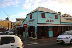 圣徒的吉勒斯, La雷乌尼翁冰岛,法国Loulou面包店 免版税库存照片