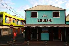 圣徒的吉勒斯, La雷乌尼翁冰岛,法国Loulou面包店 库存照片