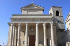 圣徒的大教堂在圣马力诺 库存照片