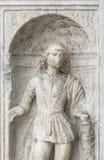 圣徒的新生雕塑,科莫,意大利 库存图片