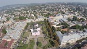 圣徒精神大教堂在切尔诺夫策,乌克兰 寄生虫录影 免版税库存照片