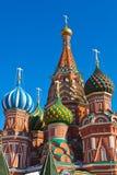 圣徒红场的,莫斯科蓬蒿大教堂 库存照片