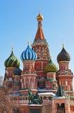 圣徒红场的,莫斯科蓬蒿大教堂 库存图片