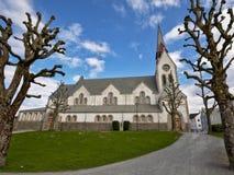 圣徒约翰尼斯教会的侧视图,斯塔万格,在1909年修建由雅各布Sparre 库存图片