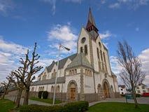 圣徒约翰尼斯教会,斯塔万格,在1909年修建由雅各布Sparre 免版税库存图片