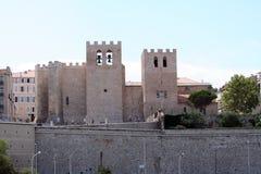 圣徒胜者教会在马赛 免版税图库摄影