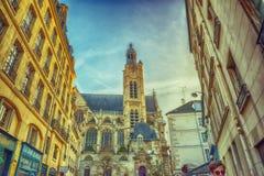 圣徒艾蒂安duMont church,巴黎 免版税库存照片