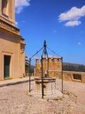 圣徒萨尔瓦多圣所在马略卡的阿尔塔 图库摄影