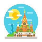 圣徒蓬蒿的大教堂平的设计地标 库存图片