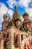 圣徒蓬蒿红场的,莫斯科` s大教堂 图库摄影