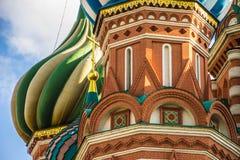 圣徒蓬蒿红场的,莫斯科` s大教堂 免版税库存图片