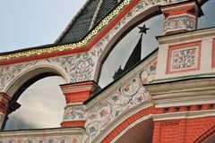 圣徒蓬蒿红场的` s大教堂在莫斯科 库存图片