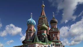 圣徒蓬蒿蓬蒿大教堂寺庙保佑,红场,莫斯科,俄罗斯 股票录像