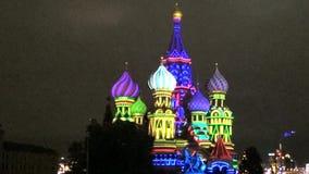 圣徒蓬蒿调解大教堂,莫斯科 股票视频