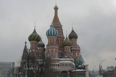 圣徒蓬蒿` s大教堂在莫斯科 免版税库存照片
