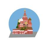 圣徒蓬蒿` s大教堂莫斯科 免版税库存照片
