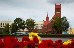 圣徒西蒙和海伦娜教会在米斯克大街上的  库存图片