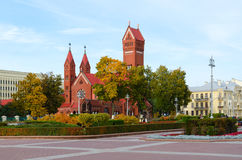 圣徒西蒙和海伦娜,米斯克,白俄罗斯天主教  库存图片