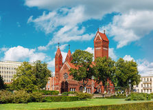 圣徒西蒙白俄罗斯语的罗马天主教堂  库存图片
