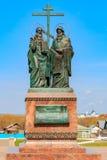 圣徒西里尔的纪念碑 免版税图库摄影
