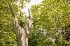 圣徒西里尔雕象  免版税库存图片