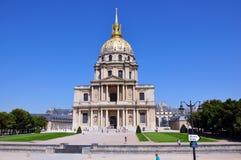 圣徒路易斯desInvalides,巴黎教堂  库存照片