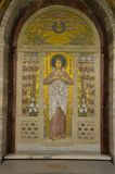 圣徒阿佳莎马赛克  免版税库存照片