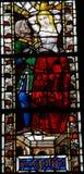 圣徒阿佳莎-彩色玻璃在鲁昂大教堂里 免版税库存图片