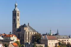 圣徒雅各布教会在Kutna Hora,捷克共和国 库存照片