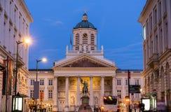 圣徒雅各布教会Coudenberg的在布鲁塞尔 库存照片