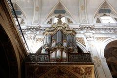 圣徒马德琳教会器官在塞维利亚 库存图片